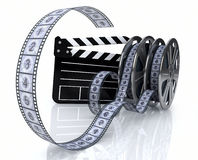 Vintage film reels and film state Royalty Free Stock Photos