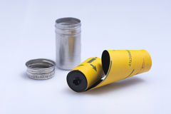 Vintage Film Roll. With metal canister Royalty Free Stock Images
