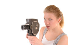Vintage film shooting royalty free stock photography