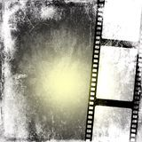 Vintage film strip background. Vintage black and white film strip background Stock Photography