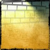 Vintage film strip background. Vintage yellow film strip background Royalty Free Stock Images