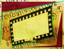 Vintage film strip frame with alphabet letters. Design element royalty free stock photo