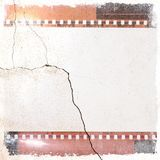 Vintage film strip frame with cracked. Retro design element. Vintage film strip frame with cracked Stock Image