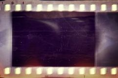 Vintage film strip frame. Design element. Vintage film strip frame with copy space Stock Photography