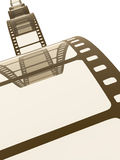 Vintage film strip. An image of a vintage film strip background Royalty Free Stock Photography