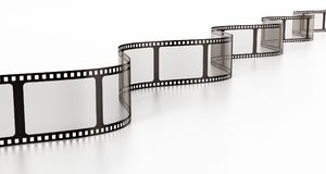 Vintage film strip isolated on white background. 3D illustration.  Royalty Free Stock Photography