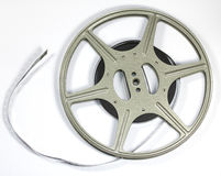 Vintage Film Strip and Reel. A Vintage Film Strip and Reel Royalty Free Stock Photography