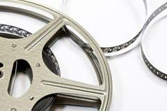 Vintage Film Strip and Reel. A Vintage Film Strip and Reel Royalty Free Stock Images