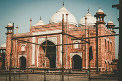 Vintage film style of repair and restoration of the Taj Mahal. Royalty Free Stock Images
