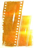 Vintage films  strip frame with flames and fire effect. Design element. Stock Photography