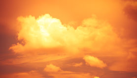 Vintage filter,Orange Cloudscape abstract look Royalty Free Stock Images