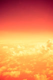 Vintage filter,Orange Cloudscape abstract look Royalty Free Stock Photo