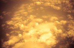 Vintage filter,Orange Cloudscape abstract look Stock Photos