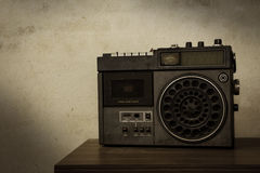 Vintage filtered of old retro radio. Stock Images