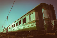 Vintage filtered old train,retro style. Stock Images