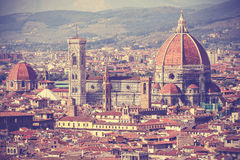 Vintage filtered picture of Florence old town, Italy Stock Images
