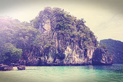 Vintage filtered picture of island, Andaman sea Thailand Stock Photos