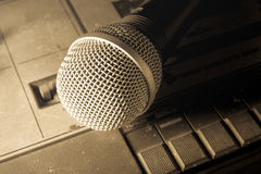 Vintage filtered of radio sound equipment and microphone. Stock Photography