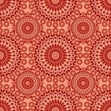 Vintage fine patterns in old folklore style. In red and orange design Stock Photos