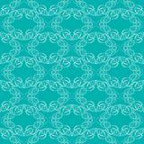 Vintage fine white brocade patterns on trendy green background, seamless background with retro victorian patterns. Vector eps10 Stock Photo