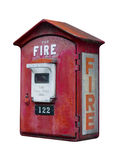 Vintage fire call box, isolated Stock Image