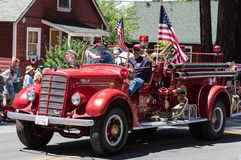 Vintage Fire Engine on Parade in Graeagle, California Royalty Free Stock Photo