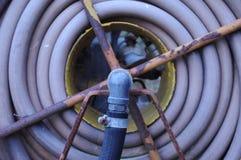 Vintage Fire Hose Reel Stock Image