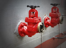 Vintage fire hydrant. Two vintage red fire hydrants Royalty Free Stock Photos