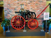 Vintage Fire Pumper. On display at the Fireman's Museum in North Charleston, SC Stock Images