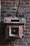 Vintage fire switch Royalty Free Stock Photos