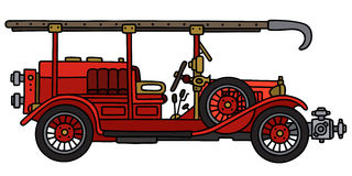 Vintage fire truck. Hand drawing of a vintage fire truck - not a real model Stock Photo