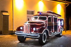 Vintage fire truck Royalty Free Stock Images