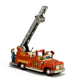 Vintage fire truck toy Royalty Free Stock Photo