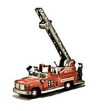 Vintage fire truck toy Royalty Free Stock Photography