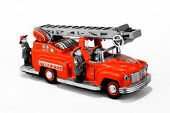 Vintage fire truck toy stock images