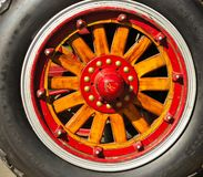Vintage Fire Truck Wood Wheel Stock Photos