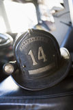 Vintage firefighter's helmet Stock Photography