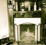 Vintage fireplace stock image