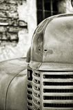 Vintage Firetruck. Black and white firetruck close up of hood and grill Stock Image