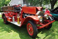 Vintage Firetruck. An 1925 Vintage Firetruck in Antique Car Show in Potsdam, New York State, USA Stock Photos