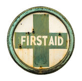 Vintage First Aid Sign Royalty Free Stock Photography