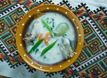 Vintage Fish soup in Galichyna Royalty Free Stock Photography