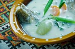 Vintage Fish soup in Galichyna Stock Photos