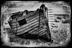 Vintage fishing boat. Stock Images