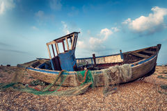 Vintage Fishing Boat Stock Photo