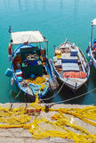 Vintage Fishing Boats at Heraklion Bay, Crete Royalty Free Stock Image