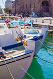 Vintage Fishing Boats at Heraklion Bay, Crete Royalty Free Stock Photography