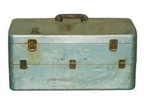 Vintage  Fishing Box Stock Photography