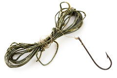 Vintage Fishing Line and Rusted Hook Stock Photo