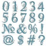 Vintage fishnet floral numeric figures. Stock Photo